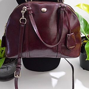 Plum color Authentic Coach Purse